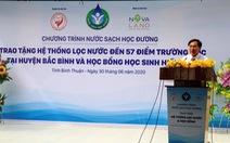 'Nước sạch học đường' đến với giáo viên, học sinh huyện Bắc Bình, Bình Thuận
