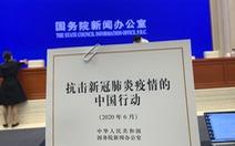 Trung Quốc công bố Sách trắng COVID-19, tuyên bố 'tuyệt đối không bồi thường'