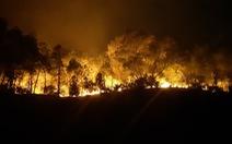 Sau Nghệ An, rừng ở Hà Tĩnh lại đang cháy ngùn ngụt trong đêm