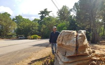 Chủ khu du lịch chở 3 tảng đá trả lại cho người làm đơn tố cáo