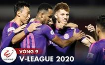Kết quả, bảng xếp hạng, bàn thắng vòng 9 V-League: Nam Định thoát đáy bảng