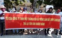 Hàng trăm người mua đất 'dự án ma' kêu cứu trước trụ sở công an Long An
