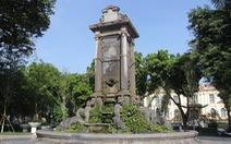 Đài phun nước gần 120 năm tuổi tại vườn hoa Con Cóc chờ 'lột xác'
