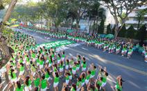 Hơn 2.100 học sinh tham gia Ngày chạy Olympic vì sức khỏe toàn dân với màn đồng diễn ấn tượng