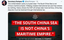 Ngoại trưởng Mỹ: 'Lịch sử cho thấy nếu không làm gì, Trung Quốc sẽ chiếm thêm lãnh thổ'