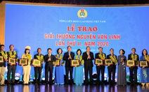 10 cán bộ công đoàn xuất sắc được tặng Giải thưởng Nguyễn Văn Linh