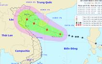 Vùng áp thấp trên biển Đông đã mạnh lên thành áp thấp nhiệt đới