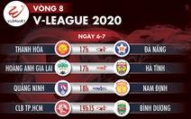 Lịch trực tiếp vòng 8 V-League 2020: Công Phượng đối đầu Tiến Linh