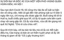 Viện KSND tối cao đang điều tra vụ 'phó viện trưởng Viện KSND quận Hoàn Kiếm bị tố cáo'