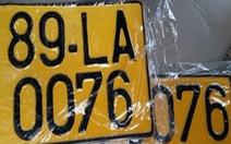 Xe kinh doanh vận tải dùng biển số màu vàng từ 1-8