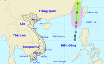 Áp thấp mạnh lên thành bão số 3 nhưng bị bão Jangmi kéo, có thể không ảnh hưởng đất liền