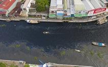Nước sông Cái Lớn lại đen ngòm, hôi thối dù nhà máy đã ngưng hoạt động