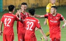'Mưa' bàn thắng xuất hiện trong buổi đấu tập thứ hai của U22 Việt Nam