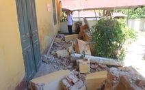 Bốn phòng học bị sập trước ngày khai giảng năm học mới