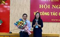 Ông Đặng Văn Minh làm phó bí thư Tỉnh ủy Quảng Ngãi