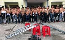 59 người xông vô đâm chém nhau, cởi áo ra toàn xăm trổ