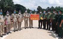 Công an Long An hỗ trợ Công an tỉnh PrayVeng 200 triệu đồng xây trụ sở