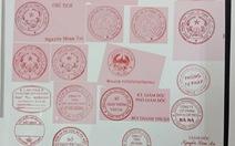 Lộ đường dây làm giả con dấu, tài liệu từ... chữ ký của phó chủ tịch phường