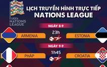 Lịch trực tiếp Nations League: Tâm điểm Pháp - Croatia