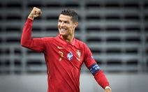 Ronaldo ghi bàn thứ 101, Bồ Đào Nha thắng dễ Thụy Điển