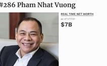 Chỉ hai tuần đầu năm, tài sản các tỉ phú đô la Việt Nam tăng vọt ra sao?