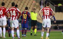 Messi có thể bị treo giò tới 4 trận vì lãnh thẻ đỏ