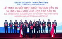 Tập đoàn DIC được Quảng Bình trao biên bản hợp tác đầu tư