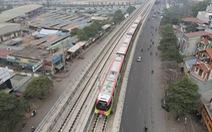 Chạy thử đoàn tàu đầu tiên của tuyến metro Nhổn - ga Hà Nội