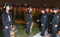 Cảnh sát cơ động sẵn sàng bảo vệ, phục vụ Đại hội Đảng XIII