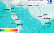 Có thể có mưa tuyết trên các đỉnh núi ở Lào Cai và Lai Châu