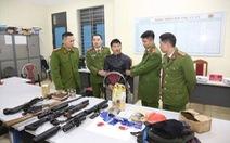 Bắt nam thanh niên tàng trữ ma túy cùng hàng loạt súng 'khủng' và lựu đạn