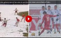 'Cầu vồng tuyết' của Quang Hải sánh vai với bàn thắng đoạt Puskas ở Top 10 siêu phẩm trên tuyết