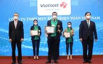 Vietlott được vinh danh Top 10 thương hiệu mạnh ngành Dịch vụ số Việt Nam 2021