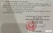 An Giang hủy bỏ văn bản ra khỏi tỉnh phải làm đơn