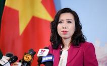 Việt Nam lên tiếng về dự luật Mỹ trừng phạt Trung Quốc liên quan Biển Đông