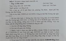 Hải Dương xử phạt 30 triệu đồng 2 chủ quán phục vụ khách ăn tại chỗ