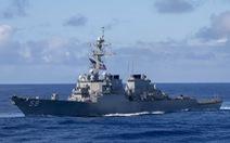 Tàu khu trục Mỹ đi ngang Trường Sa, thách thức Trung Quốc