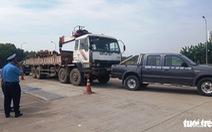 TP.HCM kiểm tra tải trọng xe tải đột xuất