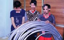 Bắt băng thuê ôtô cắt trộm gần 300 đoạn dây cáp ngầm hạ thế ở Củ Chi