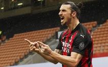 Ibrahimovic ghi bàn thứ 500 và 501, AC Milan trở lại ngôi đầu bảng