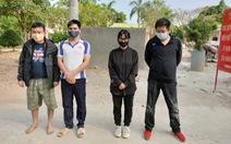 Bắt quả tang 4 người xuất cảnh trái phép sang Campuchia, có 1 người Trung Quốc