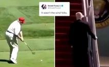 Đăng clip chế ông Biden té, con trai ông Trump bị chê 'hành xử trẻ con'