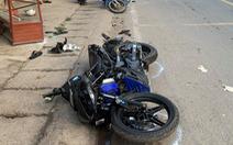 Xe môtô 3 bánh rời hiện trường sau tai nạn chết người ở quận 12
