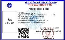 Tấm ảnh trên chiếc thẻ bảo hiểm