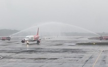 Sân bay Vân Đồn mở cửa trở lại đón chuyến bay Vietjet đầu tiên