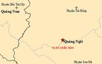 Liên tiếp xảy ra 2 trận động đất ở Quảng Ngãi