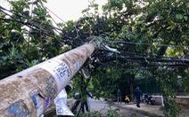 Xe tải vướng dây điện tại Thủ Đức: Vì sao dây điện không đứt mà cột điện gãy?