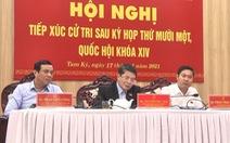 Phó chủ tịch Quốc hội Nguyễn Đức Hải tiếp xúc cử tri tại Quảng Nam