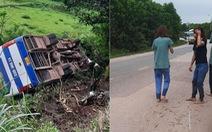 Quảng Ninh: Xe chở công nhân lao xuống vực vì tránh xe máy