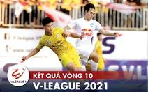 Kết quả, bảng xếp hạng V-League 2021: CLB Hà Nội thứ 8, CLB TP.HCM 'lâm nguy'